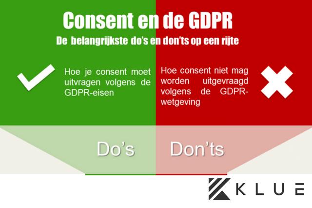 GDPR en consent, de do's en don'ts [Infographic]
