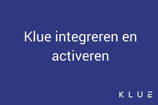 Integratie en activatie van de Klue Tag