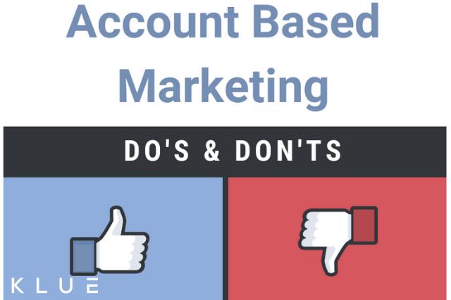 De do's en don'ts bij Account Based Marketing [infographic]