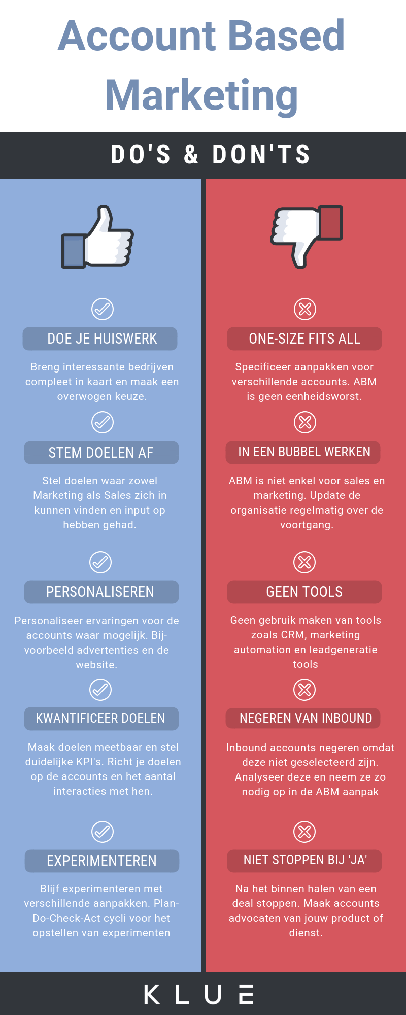 do's en don'ts account based marketing