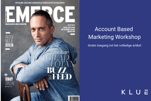 Klue in Emerce: Workshop Account Based Marketing