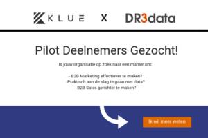 Klue en DR3Data zoeken Pilot deelnemers