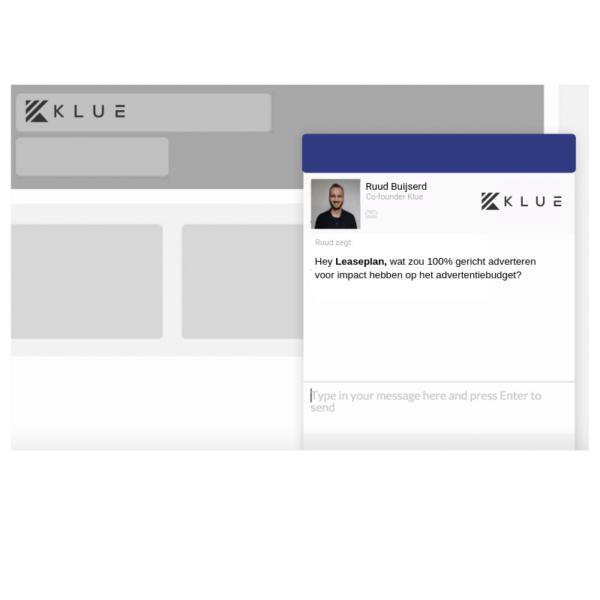 Chat personalisatie met Klue