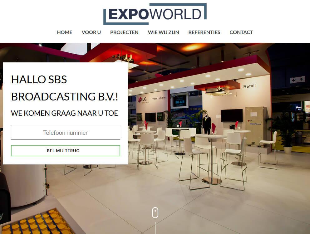 Website personalisatie voorbeeld