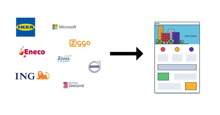 Personaliseer de website met het bedrijfslogo van de bezoeker